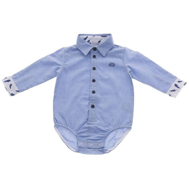 Natini Body-Hemd Casper Leaf Blue