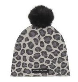 House Of Jamie Pom Pom Hat Rocky Leopard
