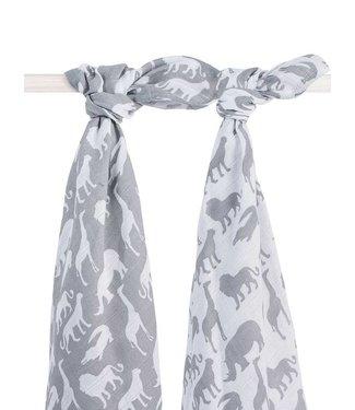Jollein Hydrofiele Multidoek 115x115 cm Safari Stone Grey