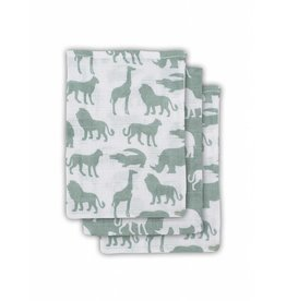 Jollein Hydrofiele Washandjes Safari Forest Green