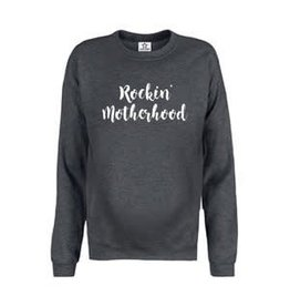 "Your Wishes Maternity Sweater ""Rockin Motherhood"" Antraciet"