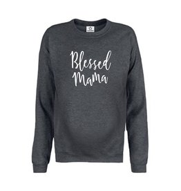 """Your Wishes Maternity Sweater """"Blessed Mama"""" Antraciet"""