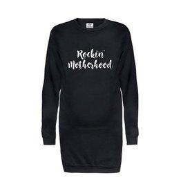 "Your Wishes Sweaterdress ""Rockin Motherhood"" Black"