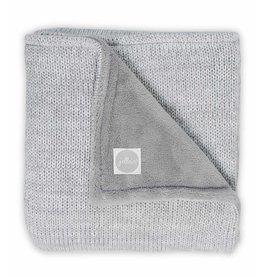Jollein Deken 75x100cm Melange Knit Soft Grey/Coral Fleece