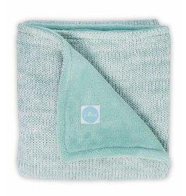 Jollein Deken 75x100cm Melange Knit Soft Green/Coral Fleece