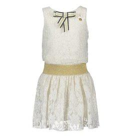 Le Chic Dress Golden Flower Lace Off-White