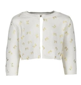 Le Chic Cardigan Allover Bows Off-White Gold