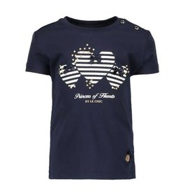 Le Chic Shirt Princess of Hearts Blue Navy
