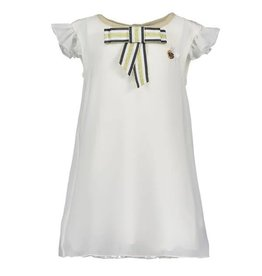 Le Chic Dress Fancy Voile Off-White