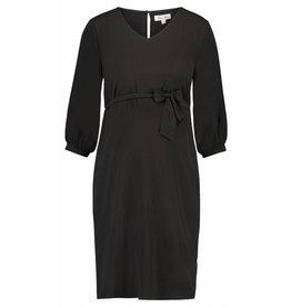 Queen Mum Dress Woven 3/4 Sl Black
