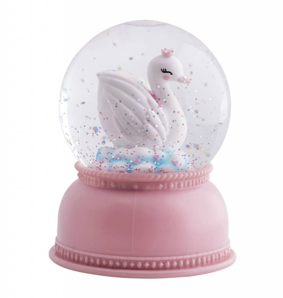 A Little Lovely Company NSnowglobe Light Swan