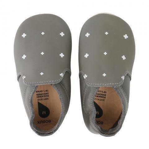 Bobux Soft sole Loafer Grey-white +
