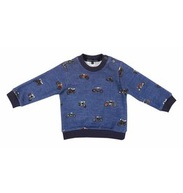 Gymp Sweater Blue Motor Printed