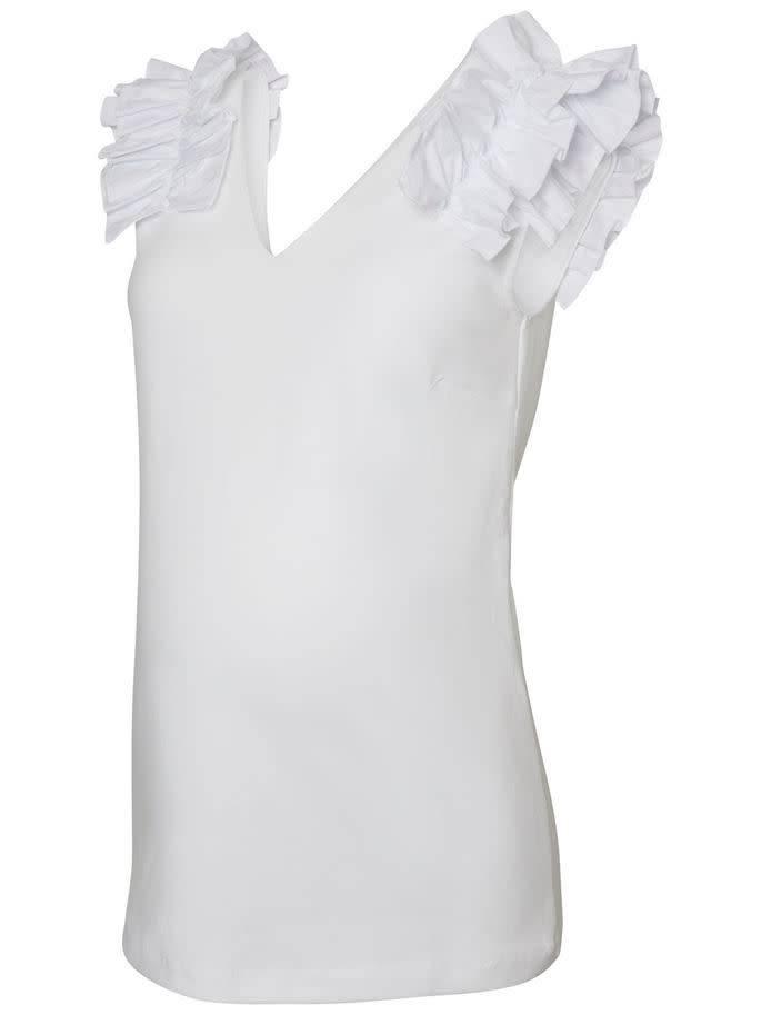 Mamalicious Elisa Jersey Top White