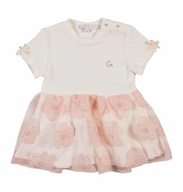 Gymp Dress flower Off-White / Vieux Rose Tull Jersey