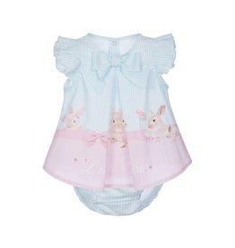 Lapin House Dress & Bloomer Pink-Mint Rabbit