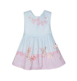 Lapin House Dress Cross Pastel Pink-Mint Rabbit