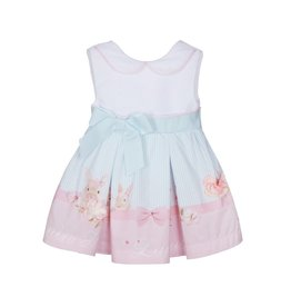 Lapin House Dress Bow Pink-Mint Rabbit
