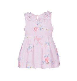 Lapin House Dress Pastel Pink Printed Flowers