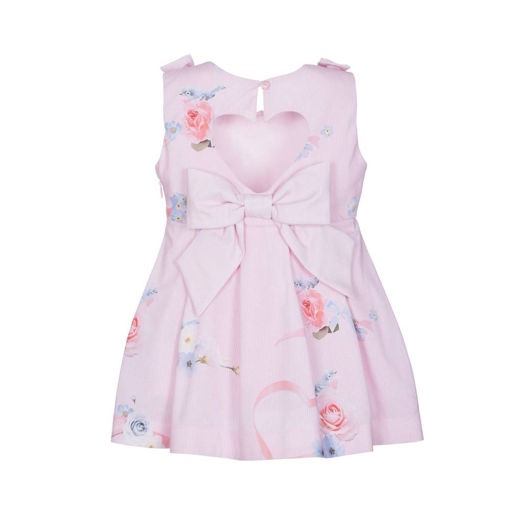 Lapin House Dress Pastel Pink Printed Flowers