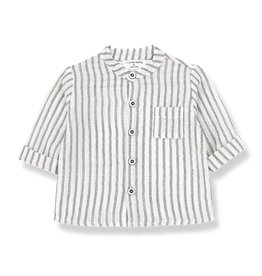 1+InTheFamily Oskar Shirt Off-White Black