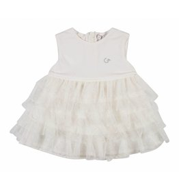 Gymp Dress Rushes Tull Off-White