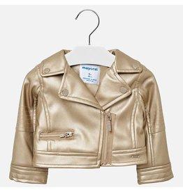Mayoral Golden Leather Jacket