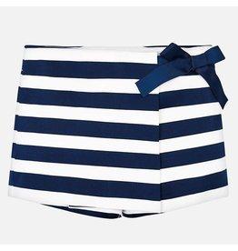 Mayoral Short Skirt Stripe Navy White