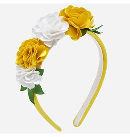 Mayoral Flower Headband Yellow
