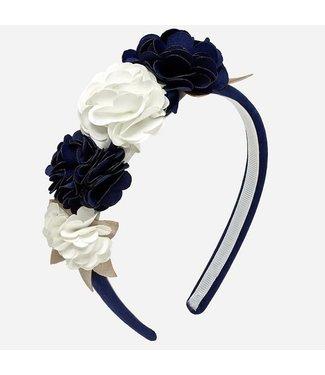 Mayoral Flowers Headband Navy