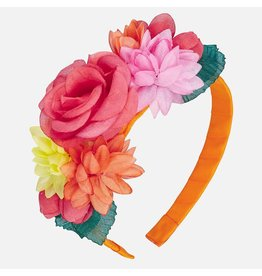 Mayoral Flower Headband Tangerine