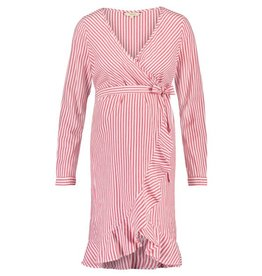 Noppies Maternity Dress ls Oria Crimson Stripe