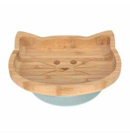 Lassig Platter Bamboo/Wood Little Chums Cat