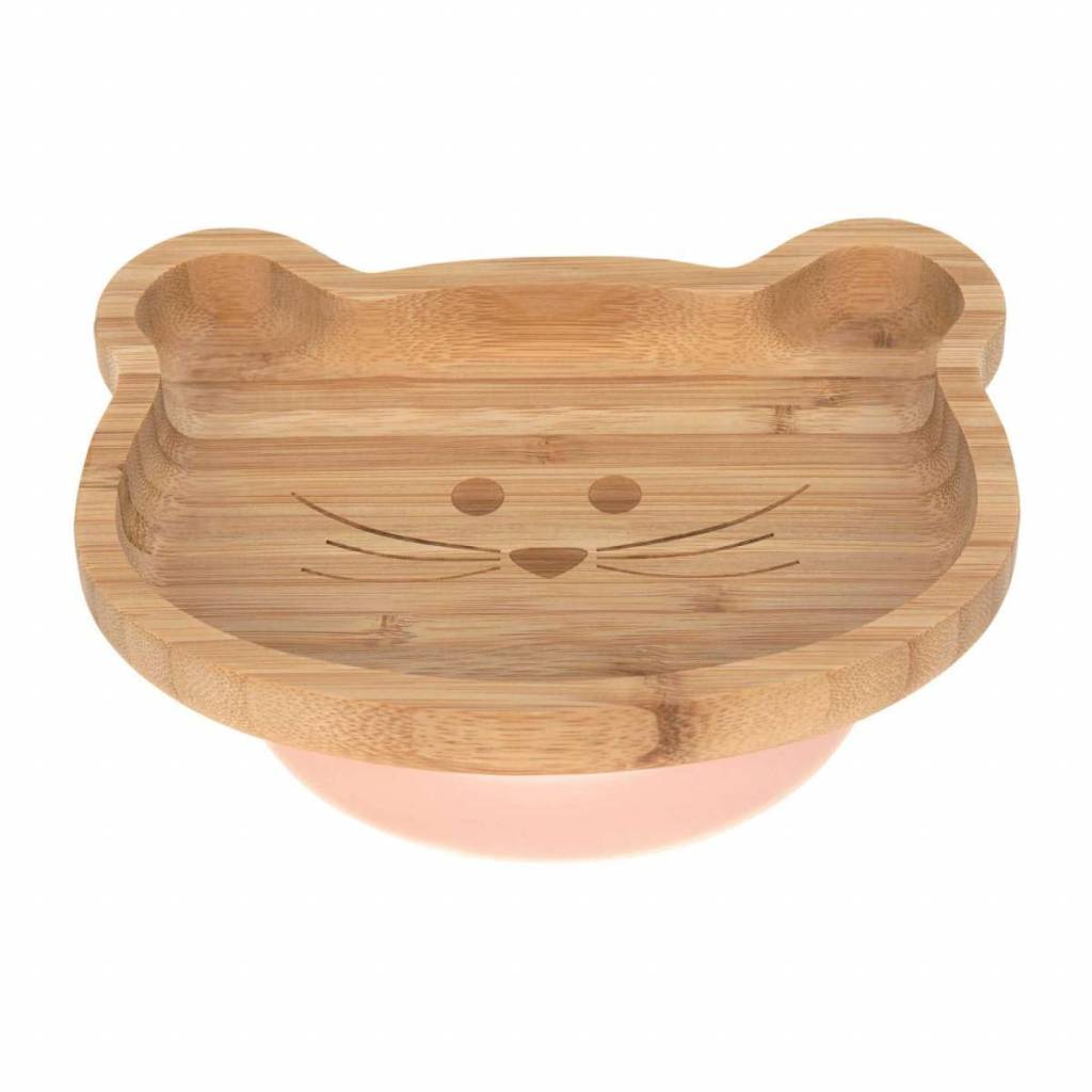 Lassig Platter Bamboo/Wood Little Chums Mouse