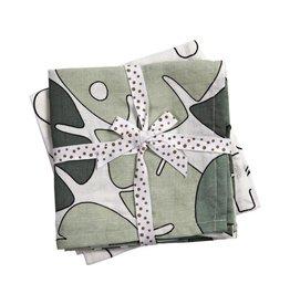 Done By Deer Burp Cloth 2-Pack Tiny Tropics 70 x70 cm