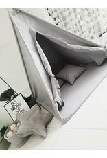 Miiimi Tipi Tent & Play Mat Grey 100x100x160 cm