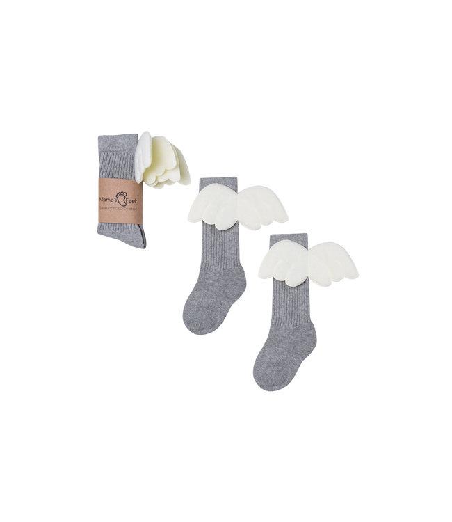 Mama's Feet Angel Knee Highs Grey