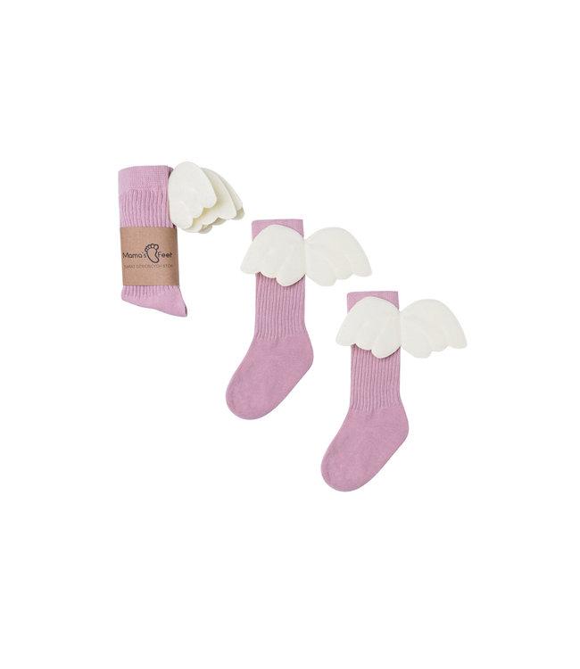 Mama's Feet Angel Knee Highs Old Pink