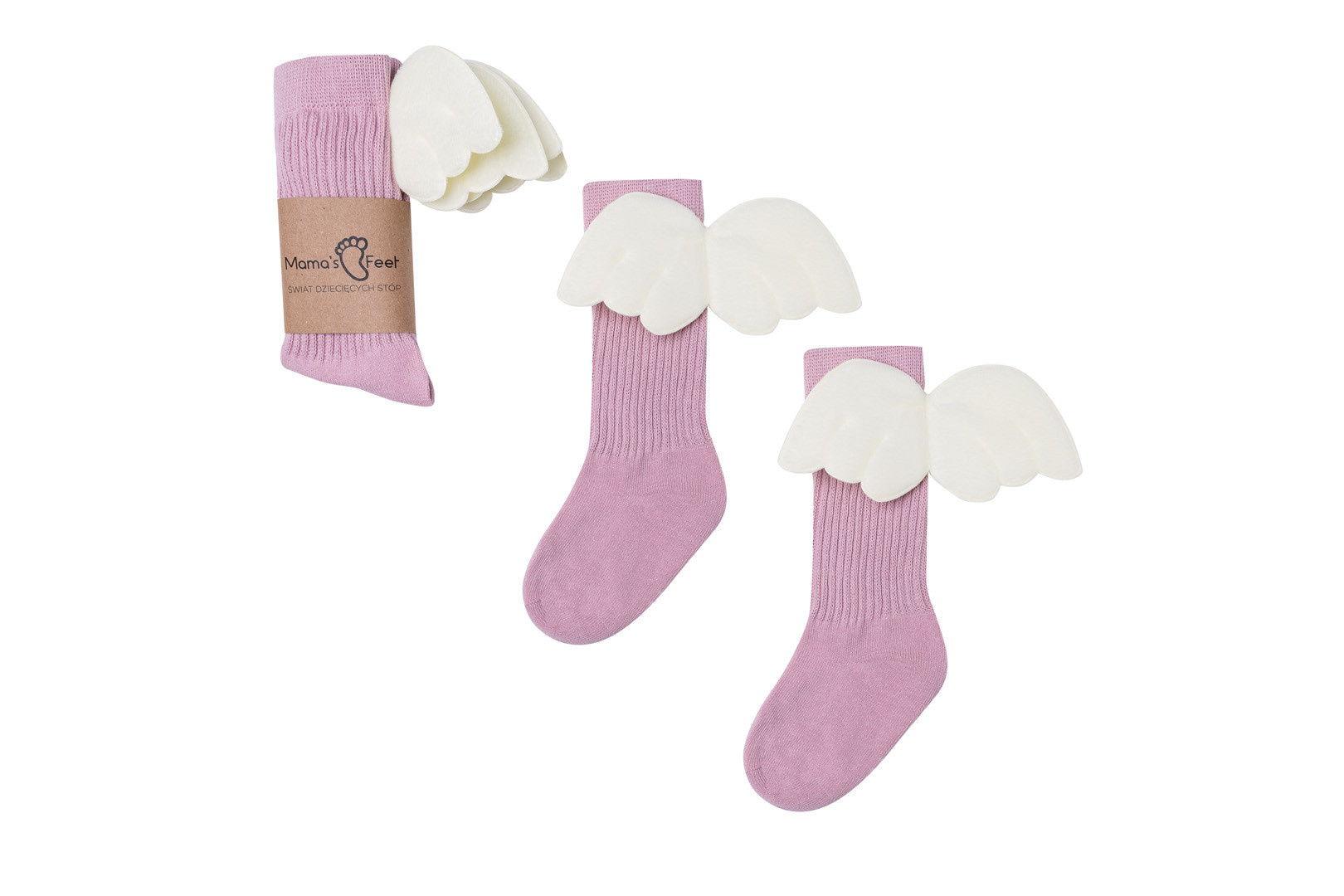 Mama's Feet Angel Knee Highs Old Pink