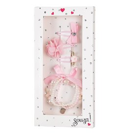 Souza For Kids Giftbox Bracelet + 3 Hair Clips Light-Pink