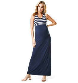 Noppies Maternity Dress Pia Blue White Stripe