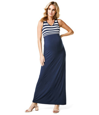 Noppies Maternity Dress Pia Blue White Stripe
