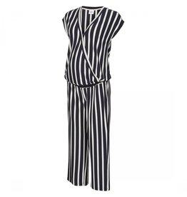 Mamalicious Becky Jumpsuit  Jersey S/S Navy Stripes