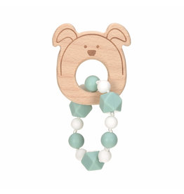 Lassig Theeter 'Bracelet' Wood/Silicone Little Chums Dog