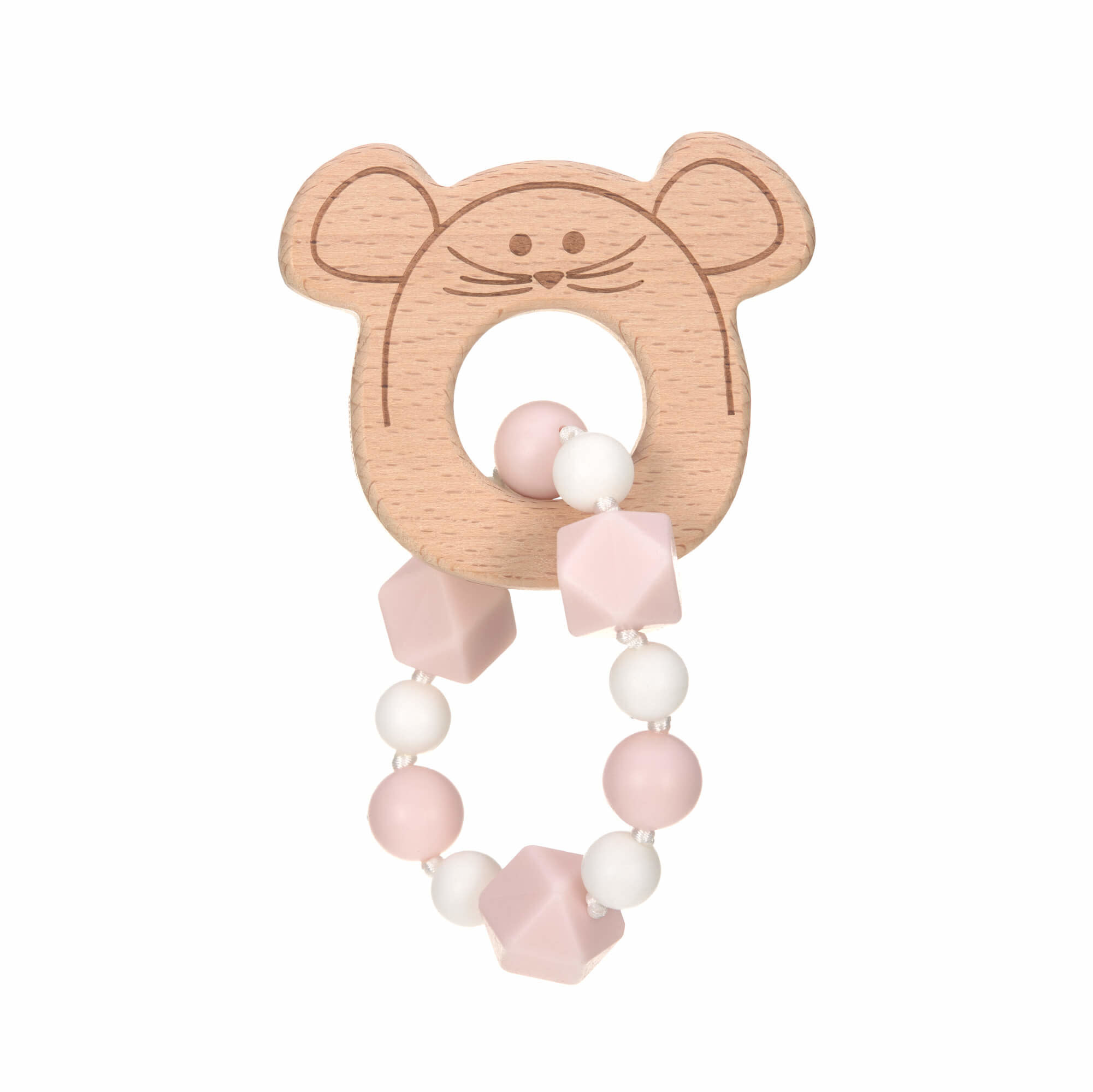 Lassig Theeter 'Bracelet' Wood/Silicone Little Chums Mouse