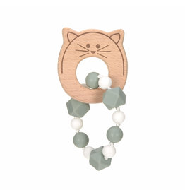 Lassig Theeter 'Bracelet' Wood/Silicone Little Chums Cat