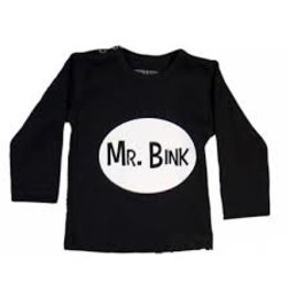 Wooden Buttons Tee 'Mr. Bink' Black
