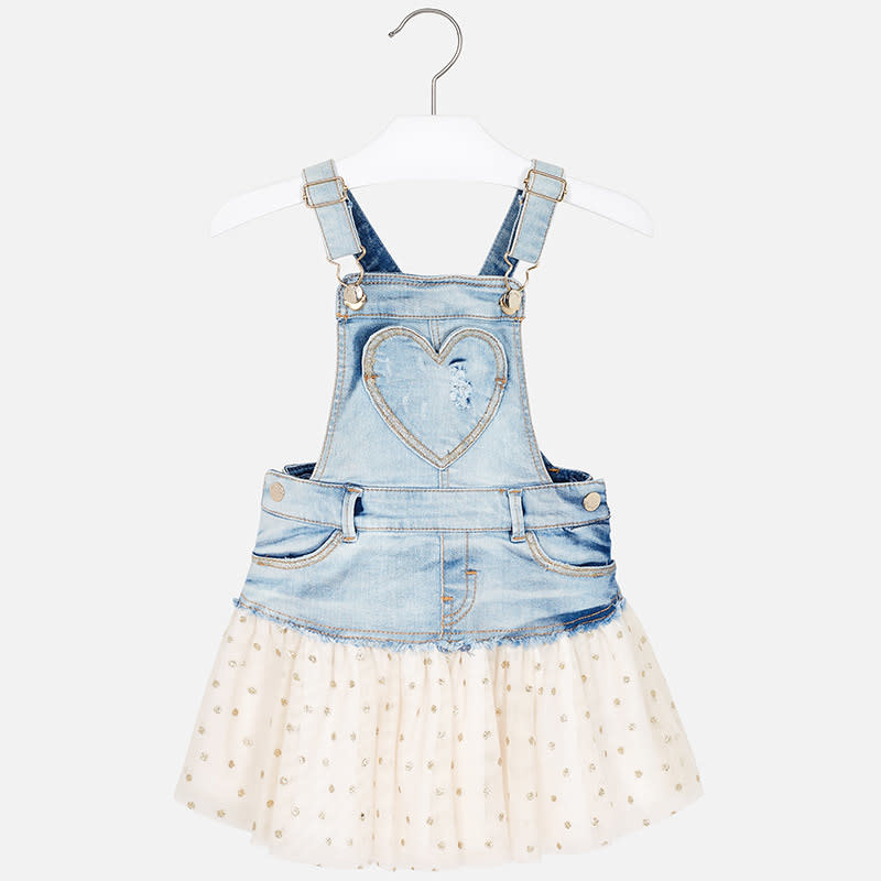 Mayoral Denim Dress Tuule Overall Gold