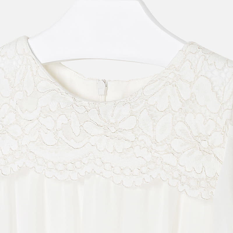 Mayoral Jumpsuit Lace Off-White