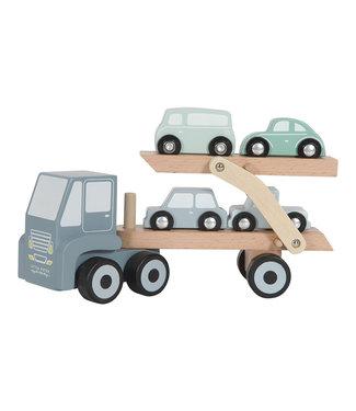 Little Dutch Houten Transportwagen Blue